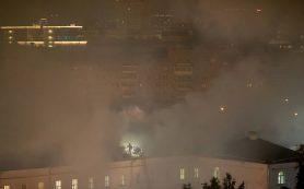 В общежитии Военного университета Минобороны РФ в Москве произошел пожар